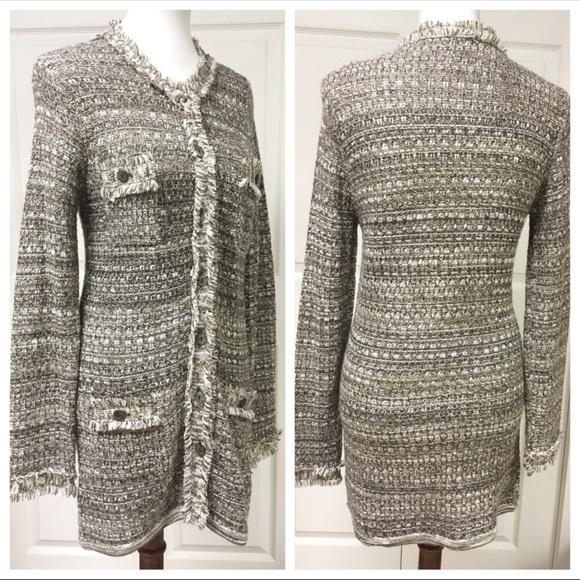 conrad c Sweaters - DESIGNER CONRAD C TAN GOLD FRINGE SWEATER JACKET